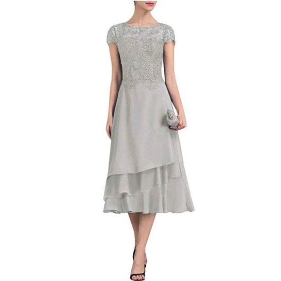 Dresses & Skirts - Grey Chiffon Gown